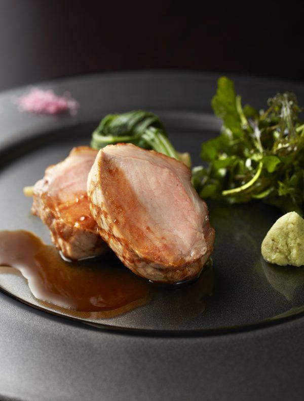 Roasted 'Matsuzaka' Pork with Farm-Fresh Vegetables.