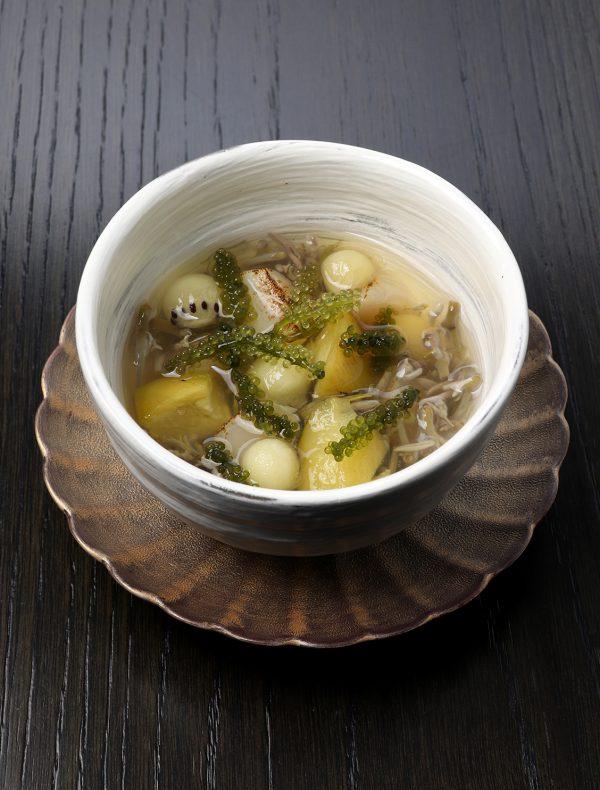 茄子・帆立・ジュンサイの和出汁のマリネ
