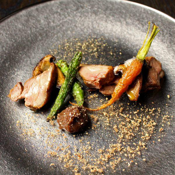 京都産鴨肉のタリアータ