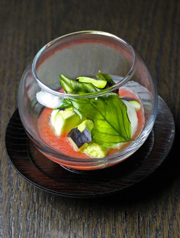 泉州水ナスと水牛モッツァレッラチーズのカプレーゼ ¥950