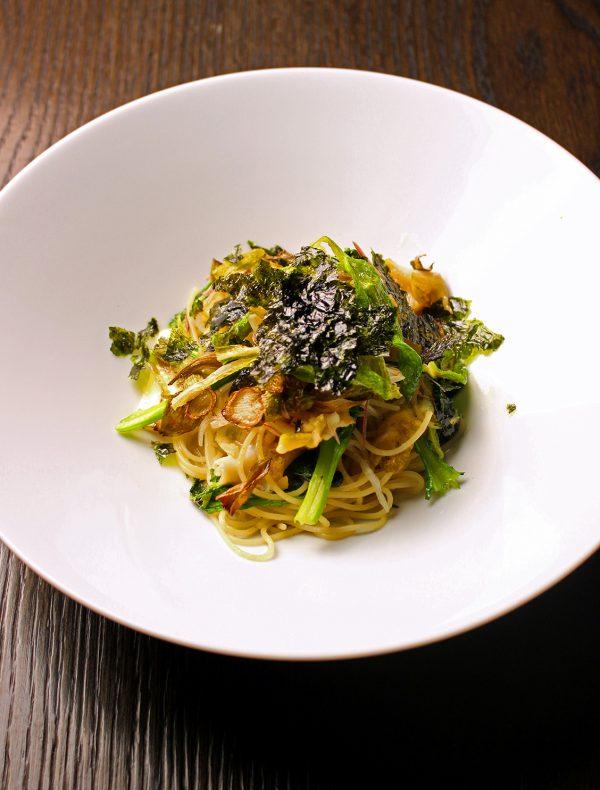 道産ツブ貝と春野菜のパスタ 塩海苔ソース ¥2,400