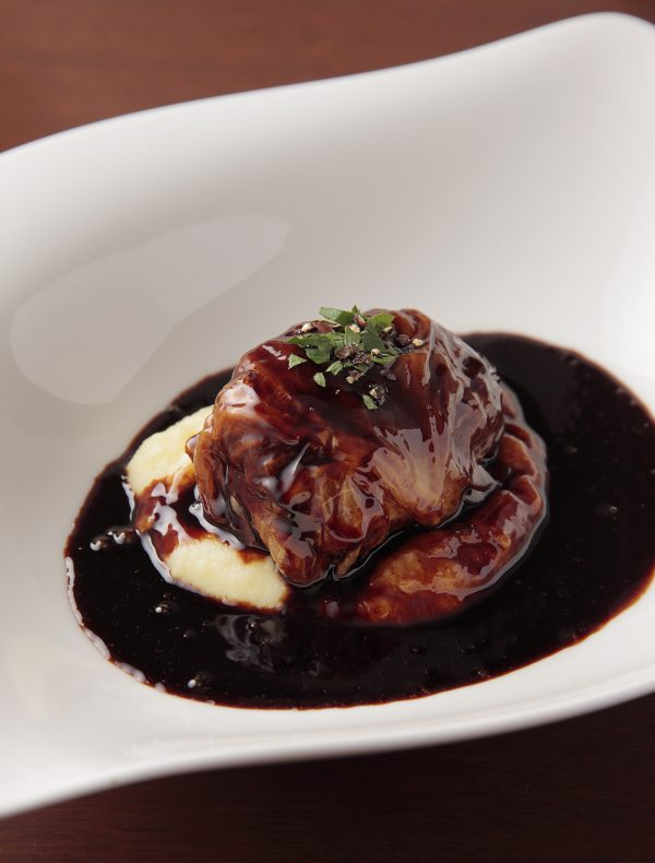 Japanese Beef 'Rolled Cabbage' Stewed in Red Wine Reduction Sauce  ¥2,900