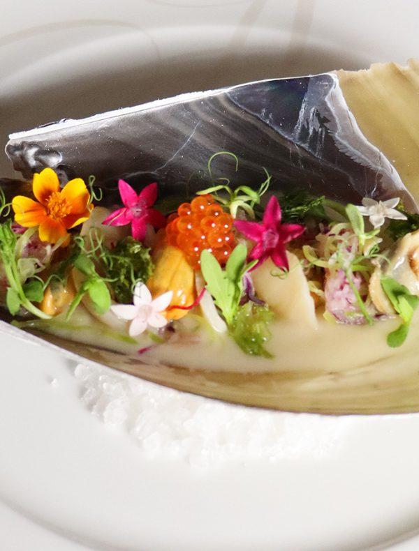 平貝の昆布〆 聖護院蕪のナージュ仕立て ¥1,650