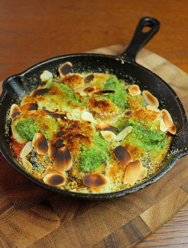 帆立貝と原木椎茸の香草パン粉焼き ¥2,400