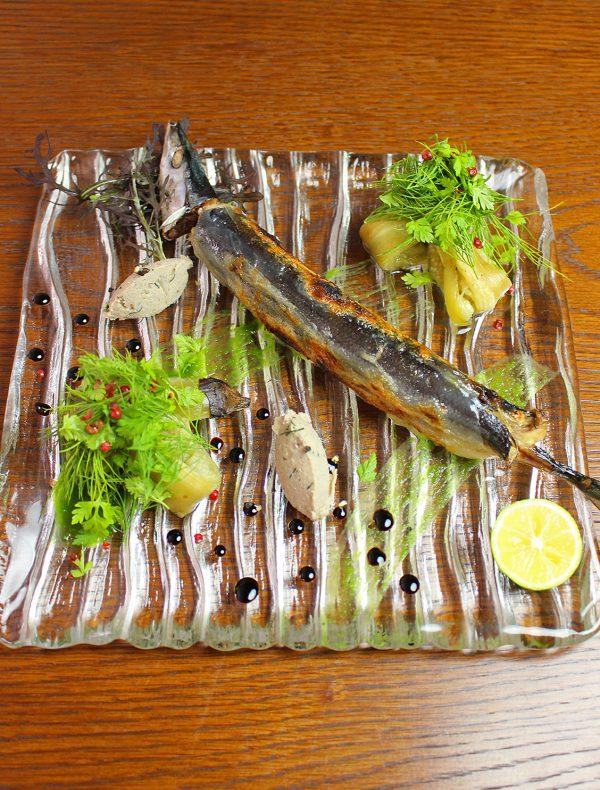 秋刀魚のコンフィと焼き茄子 ¥1,800