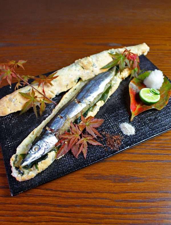秋刀魚の塩釜焼き ¥1,800