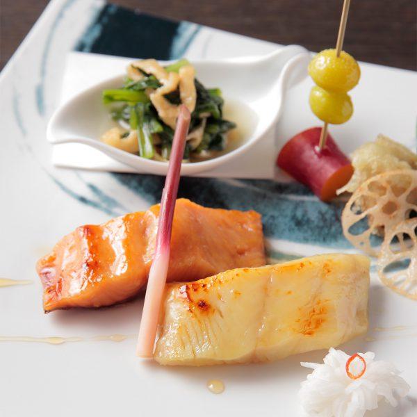 本日の魚西京味噌焼き 二種