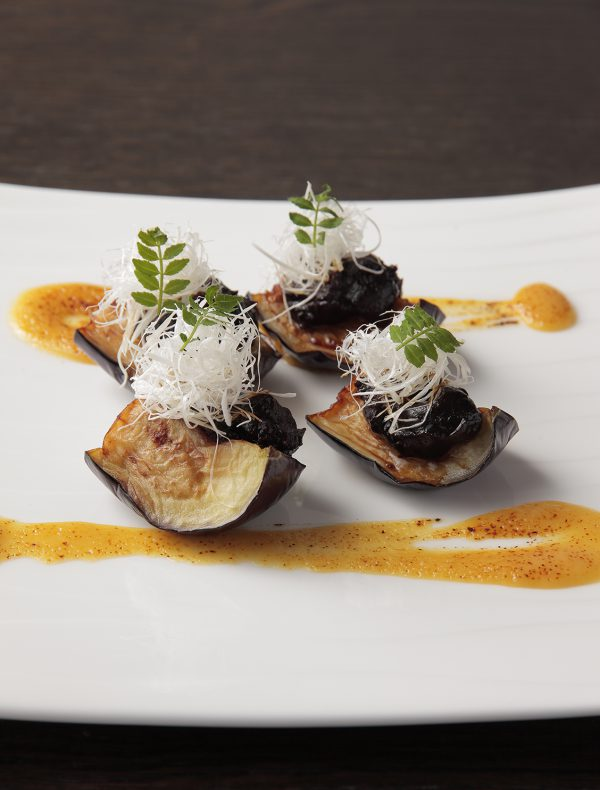 Grilled 'Black Beauty' Eggplant topped with Sweet  Miso Paste ¥1,400