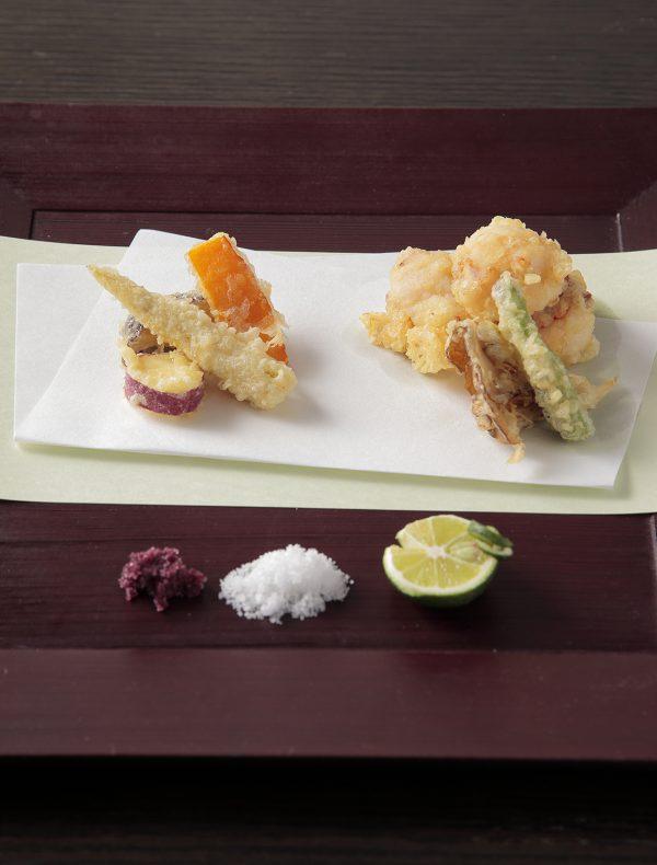 海老と季節野菜の天麩羅
