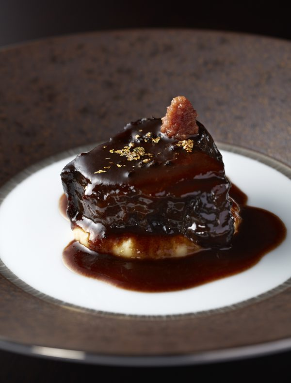 Wagyu Beef Cheek simmered in Red Wine and Japanese Plum