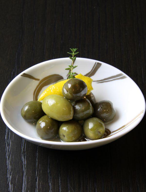 グリーンオリーブのマリネ ¥750