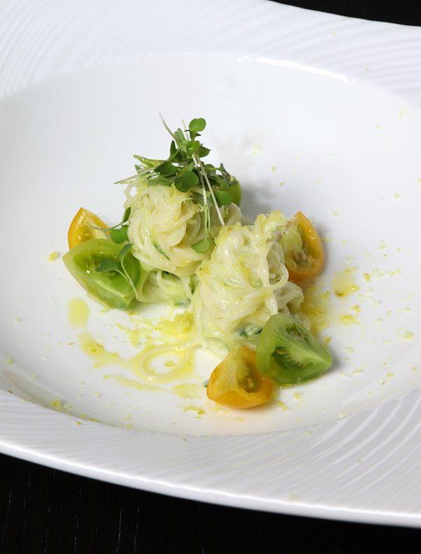 胡瓜とシシリア檸檬のカッペリーニ