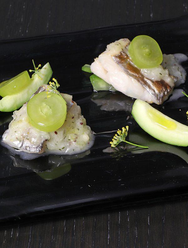 ハモンイベリコのサラダ 契約農家の野菜とパルミジャーノムース