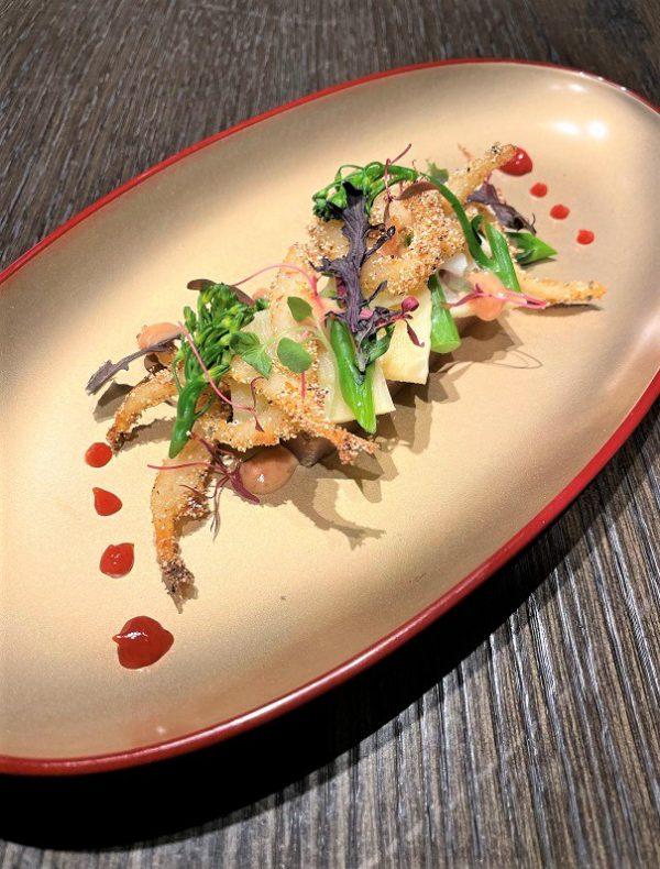 島根県宍道湖産白魚のフリットと梅肉寒天 ¥1,800