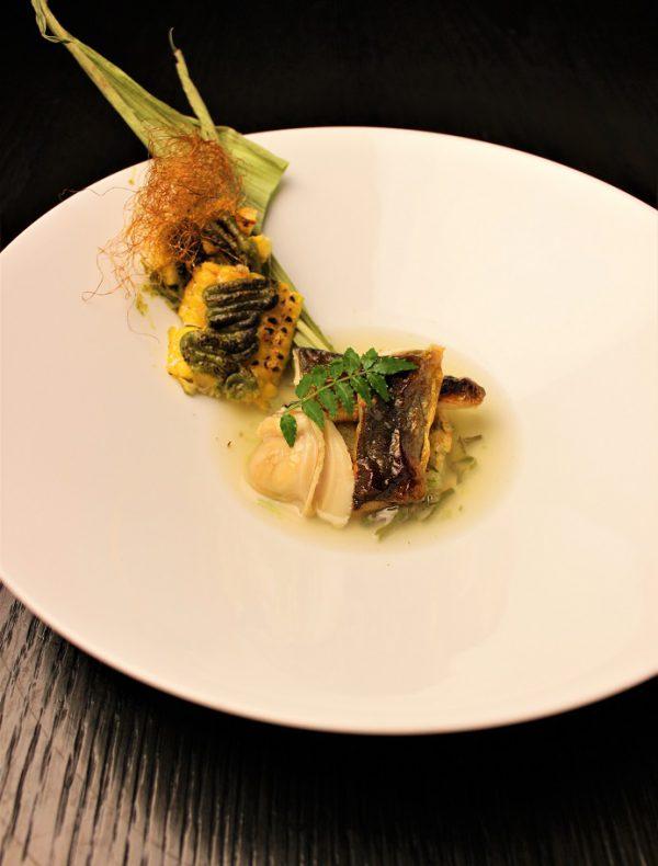 鮎のおやきと蛤の出汁 筍の木の芽味噌焼き ¥2,200