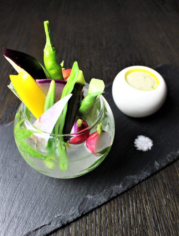 京野菜のスティック 柚子胡椒ソース ¥900