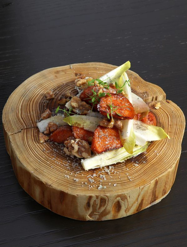 Ceasar Salad of Mushrooms with Japanese Style Poached Egg ¥1,600