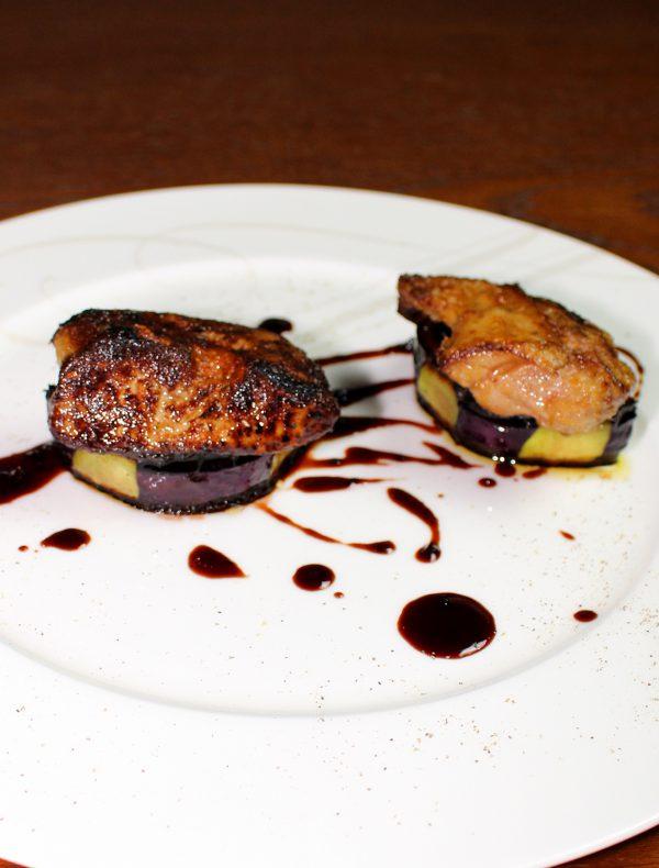 Foie gras and Eggplant pan-roast Perigueux source ¥3,050