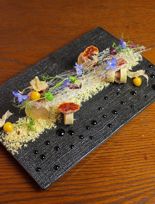 フォアグラの味噌漬けとあんぽ柿 菜園仕立て ¥2,500